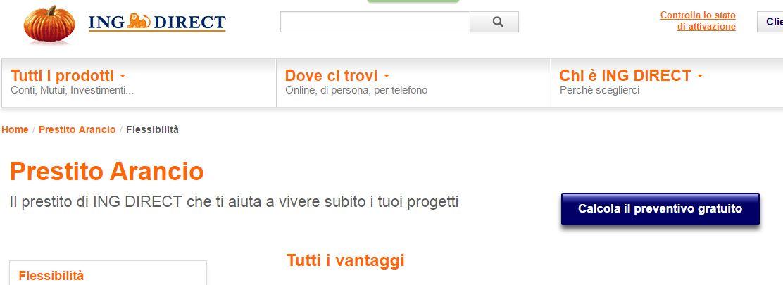 Prestiti: le offerte online di Prestito Arancio (ING DIRECT)