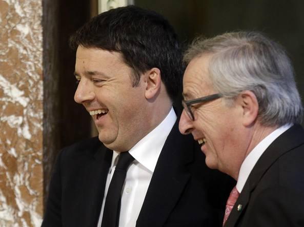 Incontro a Roma tra Juncker e Renzi: le posizioni non sono distanti