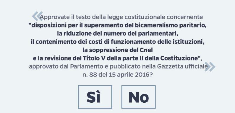 Opinioni referendum costituzionale 2016